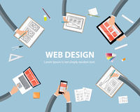 Web design workspace concept Stock Image