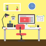 Web design workspace Stock Photography