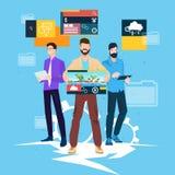 Web Designer Business People Team Working. Flat Vector Illustration Royalty Free Stock Photos
