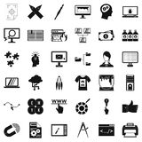 Web designer icons set, simple style Stock Photo