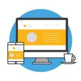 Web designer set Stock Photos