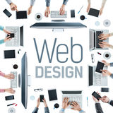Web designers at work Royalty Free Stock Photos