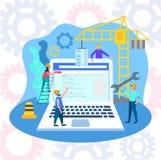 The concept of website development stock illustration