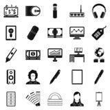 Web designing icons set, simple style. Web designing icons set. Simple set of 25 web designing vector icons for web isolated on white background Stock Photography