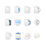 Web and desktop icons mac. Vector illustration of icon set for desktop or web sites, with white and clean colors as mac style with rounded corners and web 2.0 Royalty Free Stock Photography