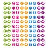 Web determinado 2.0 del icono stock de ilustración