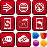 Web determinado del icono Fotos de archivo libres de regalías