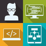 Web developer design Stock Photography