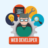 Web developer design Stock Images