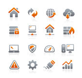 Web Developer Icons -- Graphite Series Royalty Free Stock Photography