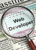 Web Developer Join Our Team. 3D. Royalty Free Stock Photos