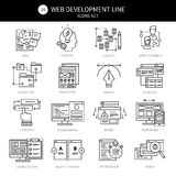 Web Development Black Line Icon Set vector illustration