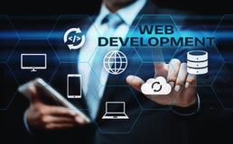 Web Development Coding Programming Internet Technology Business concept royalty free stock photos