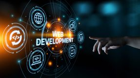 Web Development Coding Programming Internet Technology Business concept.  royalty free stock image