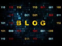 Web development concept: Blog on Digital Royalty Free Stock Photos