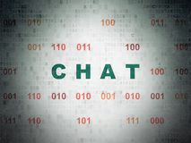 Web development concept: Chat on Digital Data Paper background Royalty Free Stock Image