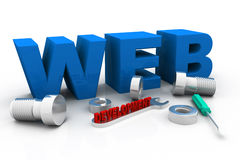 Web development concept. 3d render of web development concept royalty free stock photo