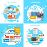 Web Development Concept Icons Set Royalty Free Stock Images