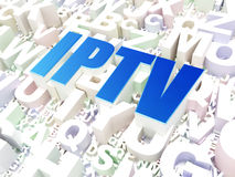 Web development concept: IPTV on alphabet Royalty Free Stock Photo