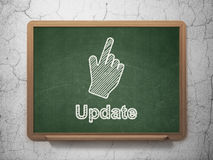 Web development concept: Mouse Cursor and Update Royalty Free Stock Photography