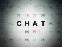 Web development concept: Chat on Digital Data Paper background Stock Image