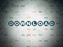 Web development concept: Download on Digital Data Paper background Royalty Free Stock Images