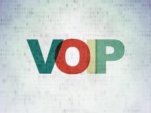 Web development concept: VOIP on Digital Data Paper background. Web development concept: Painted multicolor text VOIP on Digital Data Paper background Royalty Free Stock Image