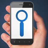 Web development concept: Search on smartphone Stock Photos