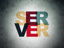 Web development concept: Server on Digital Data Paper background Royalty Free Stock Image