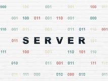 Web development concept: Server on wall background Stock Photos