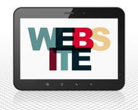 Web development concept: Tablet Pc Computer with Website on  display Stock Photo