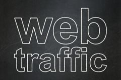 Web development concept: Web Traffic on chalkboard background. Web development concept: text Web Traffic on Black chalkboard background stock illustration