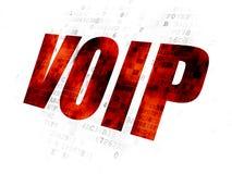 Web development concept: VOIP on Digital background. Web development concept: Pixelated red text VOIP on Digital background Royalty Free Stock Photography