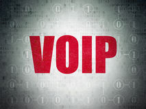 Web development concept: VOIP on digital Royalty Free Stock Images