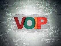 Web development concept: VOIP on Digital Paper Stock Photo