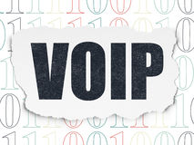 Web development concept: VOIP on Torn Paper Royalty Free Stock Photos