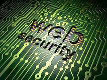Web development concept: Web Security on circuit Royalty Free Stock Image