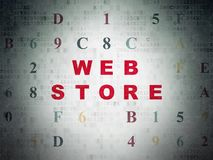 Web development concept: Web Store on Digital Data Paper background Royalty Free Stock Photography