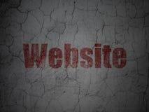 Web development concept: Website on grunge wall Stock Photos