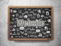 Web development concept: Website on School board background Stock Photo