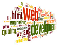 Web development concept in word tag cloud Royalty Free Stock Images