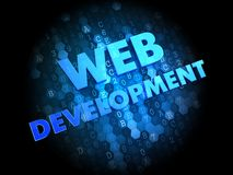 Web Development on Dark Digital Background. Royalty Free Stock Images