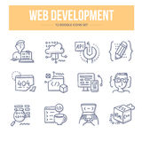 Web Development Doodle Icons Royalty Free Stock Photos