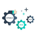Web Development Elements Stock Image