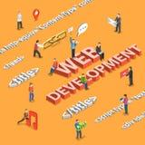 Web development flat isometric concept Royalty Free Stock Photo