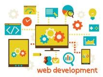 Web development. Flat modern illustration, web design development, vector eps 10