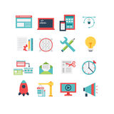 Web Development Icon Set. An icon set for web development and design, eps 10, no transparencies Royalty Free Stock Images