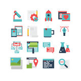 Web Development Icon Set. An icon set for web development and design, eps 10, no transparencies Stock Images
