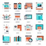 Web Development Icons Stock Photo