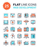 Web Development Icons. Abstract vector collection of flat line web development icons. Elements for mobile and web applications Stock Photo